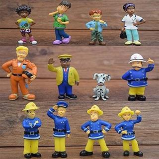 Figuras Vanvene Fireman Sam Toys - 12 Piezas Set Acción 6cm