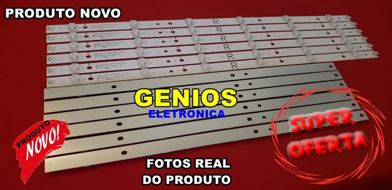 Kit Novo Completo Barra De Led Tv Aoc Le50d1452