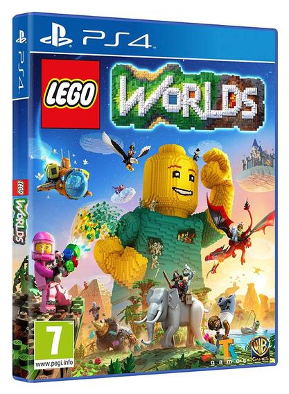 Jogo Lego Worlds Ps4 Midia Fisica Cd Original Novo Dublado