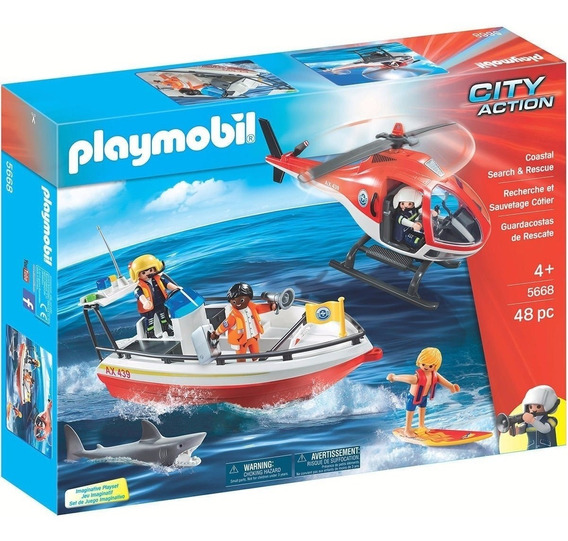 Playmobil 5668 Guarda Costeira De Resgate City Action Geobra
