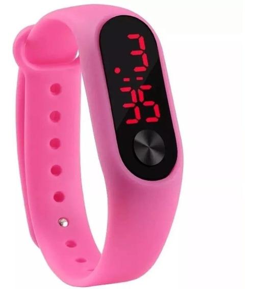 Relógio Digital Esportivo Bracelete Led Várias Cores