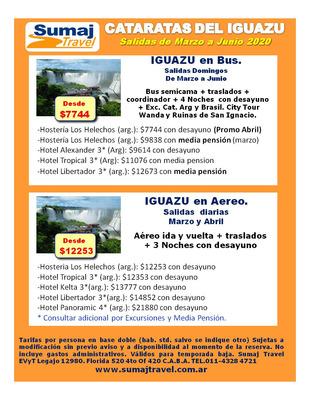 Cataratas Iguazu Paquetes Bus Y Aereo Low Cost Baja Feriados