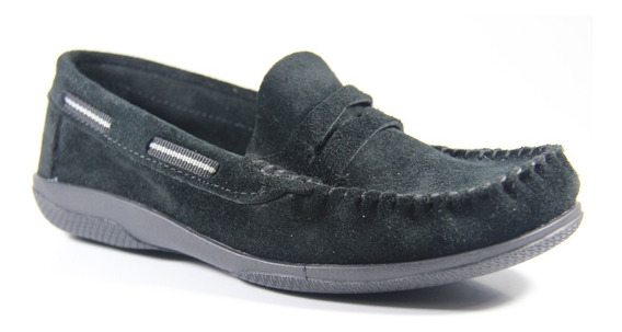 Zapato Infantil Klivers De Gamuza Negro 27 Al 34