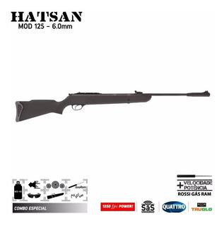 Carabina Pressão Hatsan Ht125 6,0 Mm Gasram 75k + Acessórios