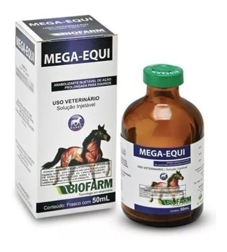 01 Mega-equi 50ml (uso Veterinário) Injetável