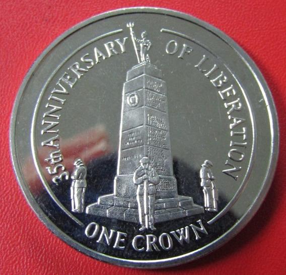 Islas Malvinas Moneda 1 Crown 2017 Unc 35º Aniv Liberacion