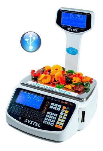 Balanza Systel Cuora 30 Kg St Solo Imprime Ticket  Precision