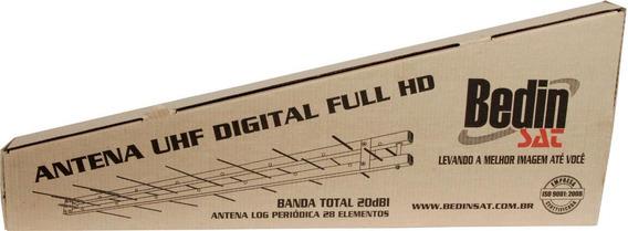 Antena Digital Hdtv Uhf Log 28 Elementos 20dbi Bedinsat