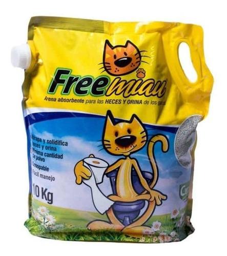 Arena Para Gatos Free Miau X 10 Kg