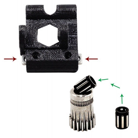 1 Definir Prusa I3 Mk2 / Mk3 Impressora 3d Parte Cloned Btec