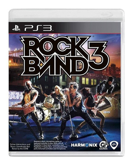Jogo Rock Band 3 - Ps3 - Original - Midia Física - Usado
