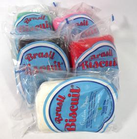 Massa Brasil Biscuit 6 Peças De 1 Kg Cores Variadas