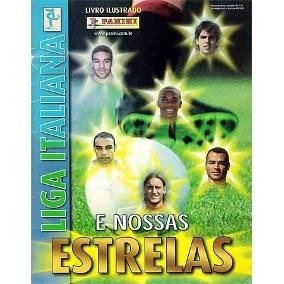 Álbum Liga Italiana E Nossas Estrelas. 2004/2005. Completo.
