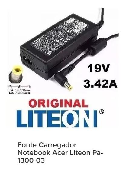 Fonte Carregador Notebook Acer Liteon Pa-1300