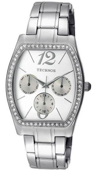 Relógio Technos Retangular Pedra 6p29dz