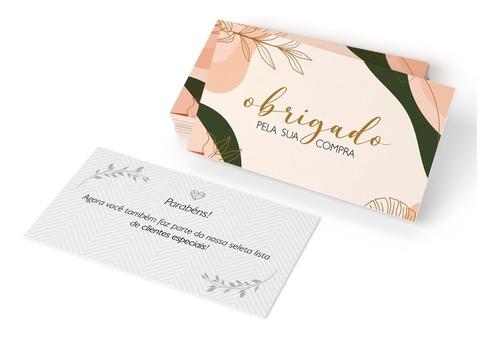 Imagem 1 de 2 de Cartão De Agradecimento Moderno Pronta Entrega Oferta