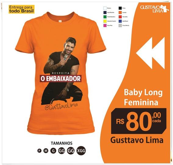 Camisa Personalizada Gusttavo Lima 100% Algodão