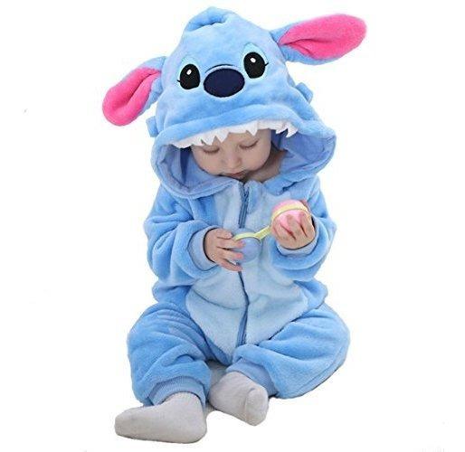 Osepe Unisex-franela Bebe Mameluco De Animales Mono Pijama T