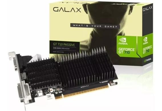 Placa De Vídeo Gt 710 2gb Ddr3 Nvidia Geforce Galax 64bits.
