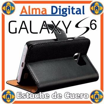 Estuche Cuero Samsung S6 Galaxy Funda Forro Tipo Libreta Svi