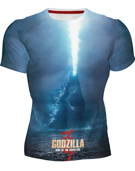 Playera Sublimada Full Print Godzilla
