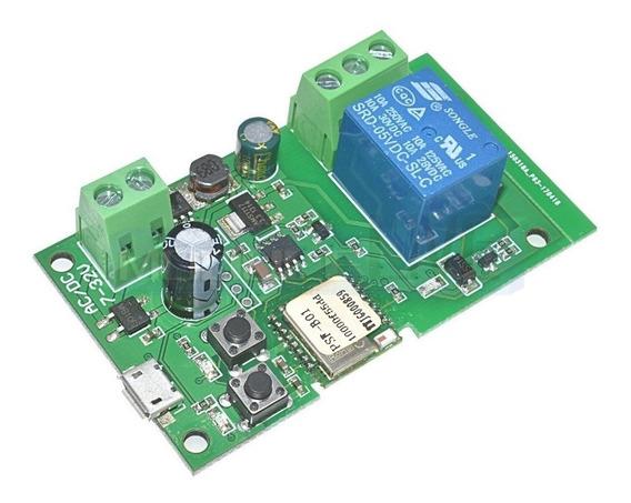 Relé Wi-fi Usb5v - Dc7-32v - Pulso Local & App Ewelink