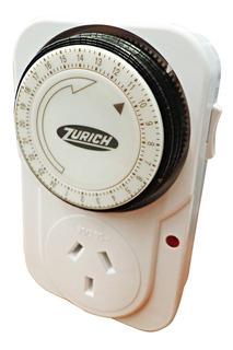 Temporizador Mecánico Zurich Programable Enchufable Timer