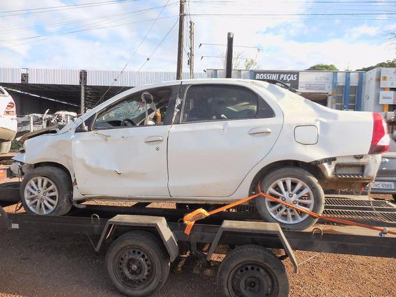 Sucata Toyota Etios 1.5 Xls 96cv Para Venda De Peças Usadas