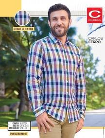 Camisa Casual Cuadros P/caballero Cklass 985-20 Pv-19