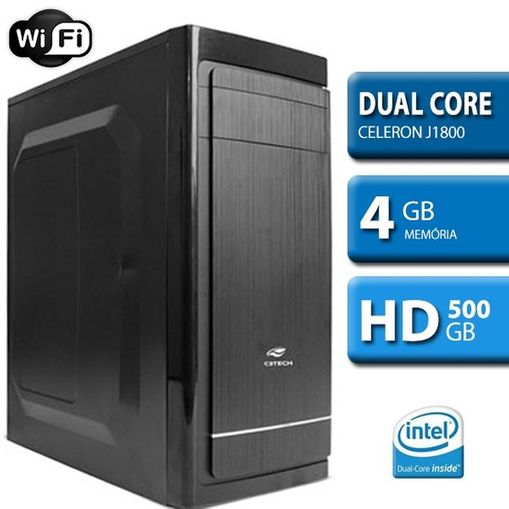Computador Intel Dual Core 2.4 D1800m, 4gb Mem, 500gb Hd