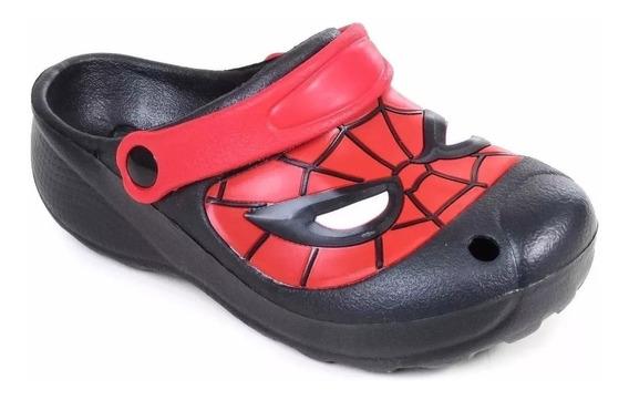 Suecos Sandalias Spiderman Marvel Negra/rojo Fty Calzados