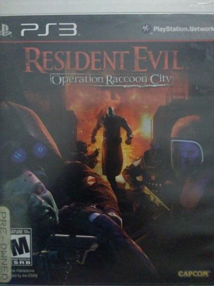 Resident Evil Operation Raccoon City Ps3 Original