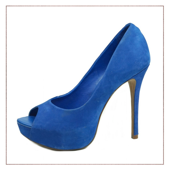 Peep Toe Arezzo Azul