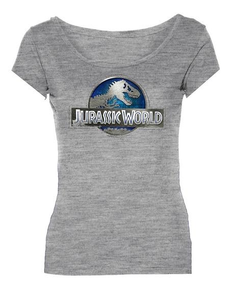Remeras Jurassic Park World Dinosaurio Mujer *mr Korneforos*