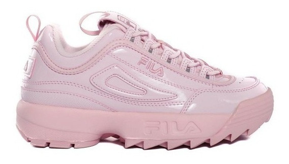 Zapatillas Fila Disruptor 2 Premium Patent Ros De Mujer