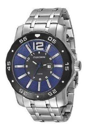 Relógio Mondaine Prata Fundo Azul 94851 G0mvna2