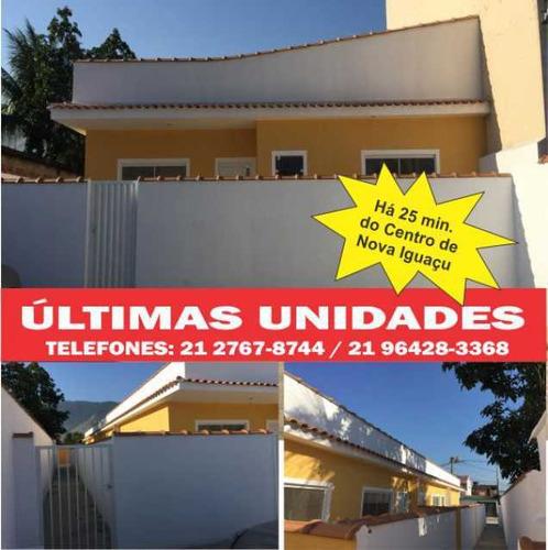 Linda Casa Linear Com 2 Quartos. Vasto Comercio E Ônibus Na Porta - Nova Iguaçu - Valverde - Pmca20233