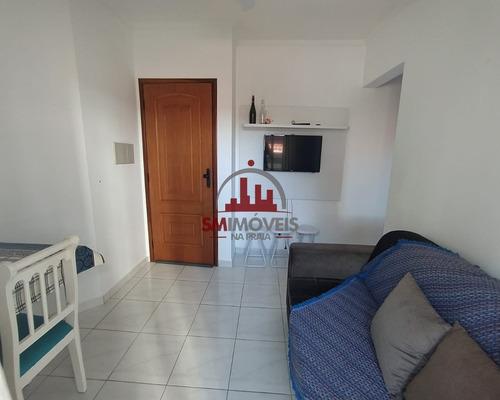 Apartamento Mobiliado Com 01 Dormitório Na Tupi Praia Grande - Ap02663 - 69311360