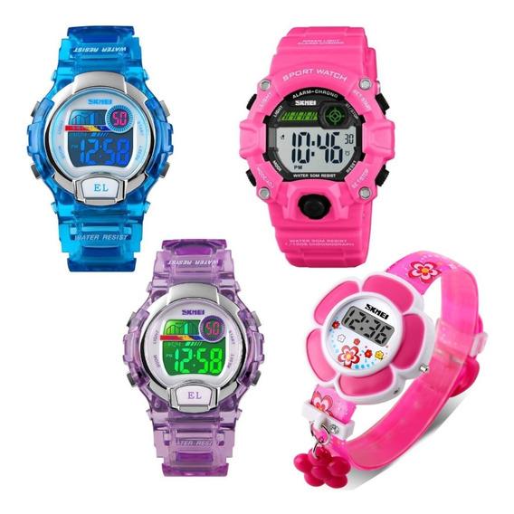 Relógio De Criança Infantil Esportivo Digital Original Nf