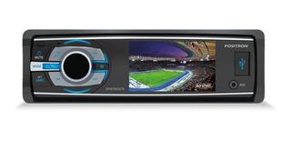 Radio Auto Fm Mp3 Dvd Tv Lcd Bluetooth Usb Aux Positron