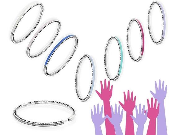 Bracelete Corações Radiantes Azu Claro