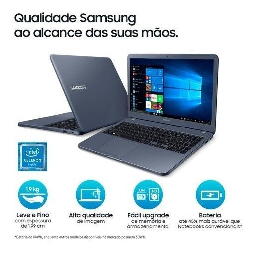 Notebook Samsung Dual Core 8 Gigas Ram 500gb Tela 15.6