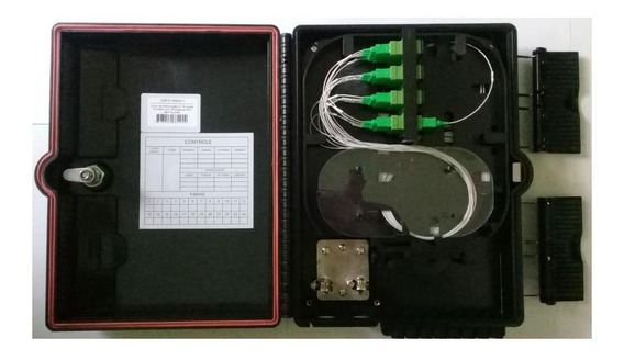 Caixa De Distribuicao Fibra Optica 16 Portas Sc/apc