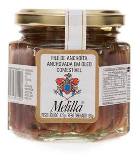 Filé De Anchovas Argentino Melilla (aliche) Vidro 170g