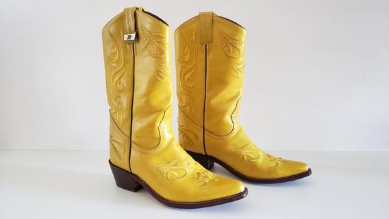 Botas Texanas Amarillas Jr N° 40