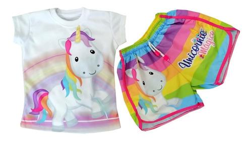 Conjunto Deportivo Para Niña Unicornio