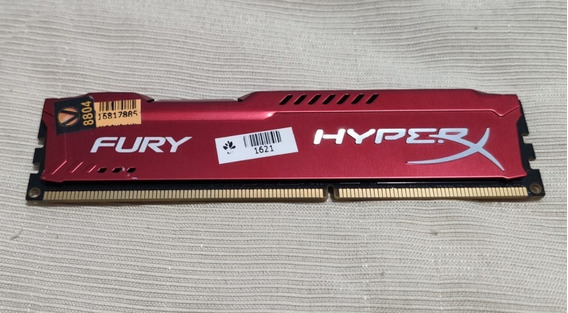 Memória 4gb Ddr3 1600mhz Gamer Kingston Fury Hyperx Vermelha