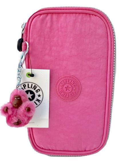 Kipling Lapicera Modelo 50 Pens Posey Pink 100% Original
