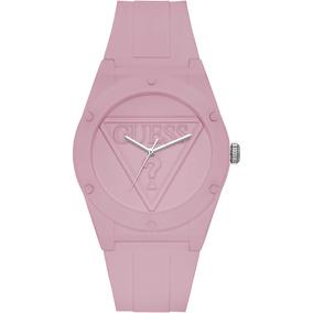 Relógio Guess Retro Pop Silicone Rosa Rose W0979l5