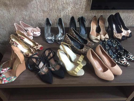 Lote De Sapatos Femininos 35,36 E 37